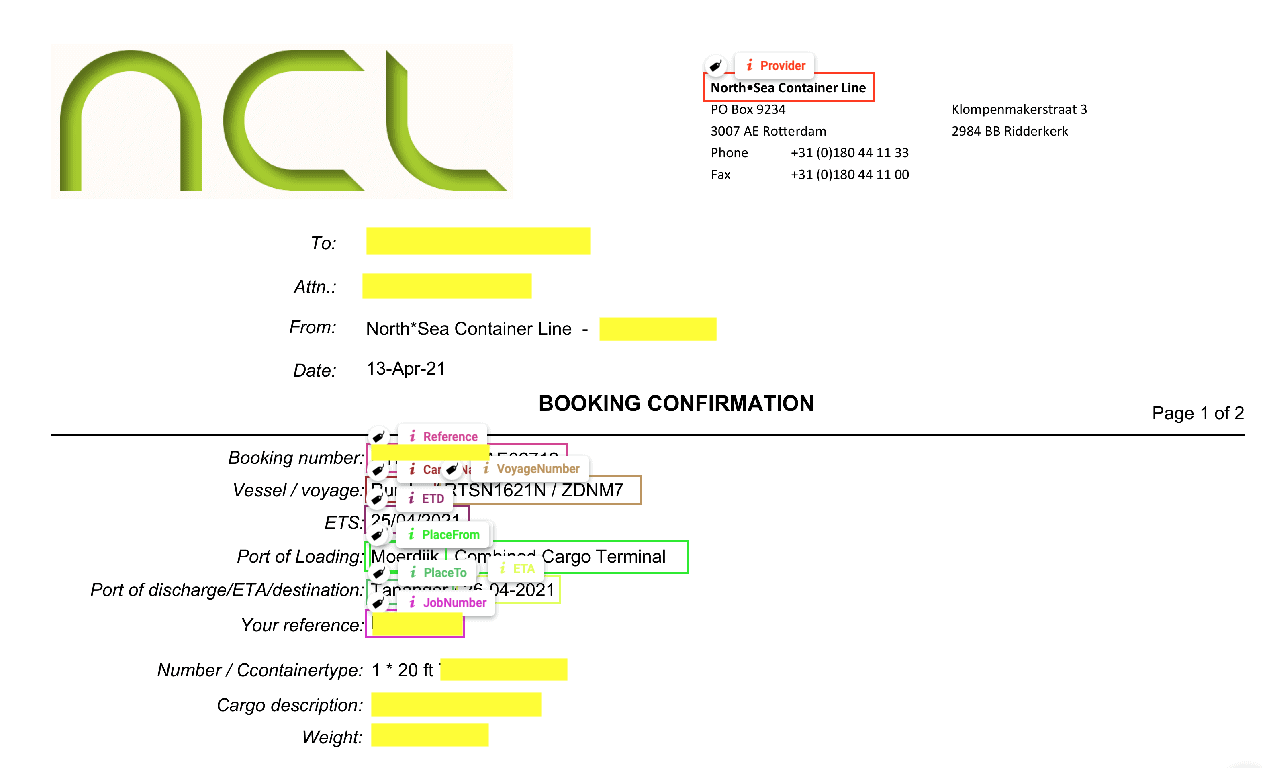 logistieke documenten automation